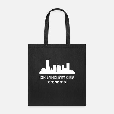 City Retro Oklahoma City Skyline - Tote Bag