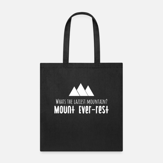 Climbing Bags & Backpacks - funny mountain logo - Tote Bag black