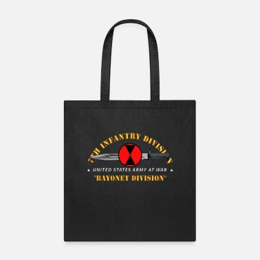 Army 7th Infantry Division Bayonet Division - Tote Bag