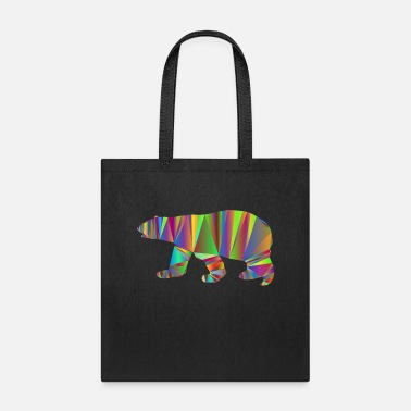 Triangle Polar Bear Low Poly - Tote Bag