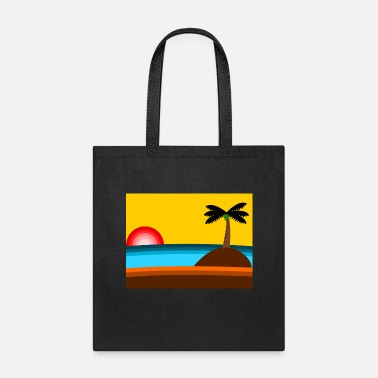 Beach blue sea beach and coconut - Tote Bag