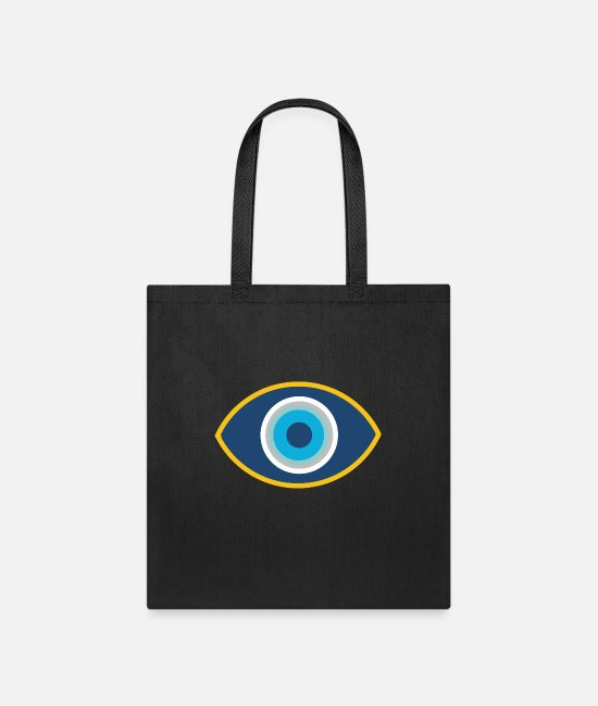 Bless You Bags & Backpacks - Evil Eye Protection Symbol Good Luck Charm Nazar - Tote Bag black