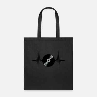 Sound vinyl platte puls herzschlag frequenz play party f - Tote Bag