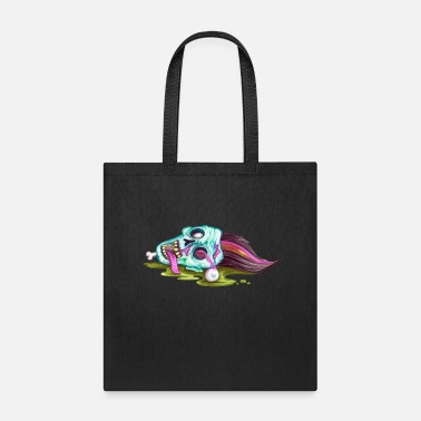 Evil Halloween Zombie Dead Face - Tote Bag