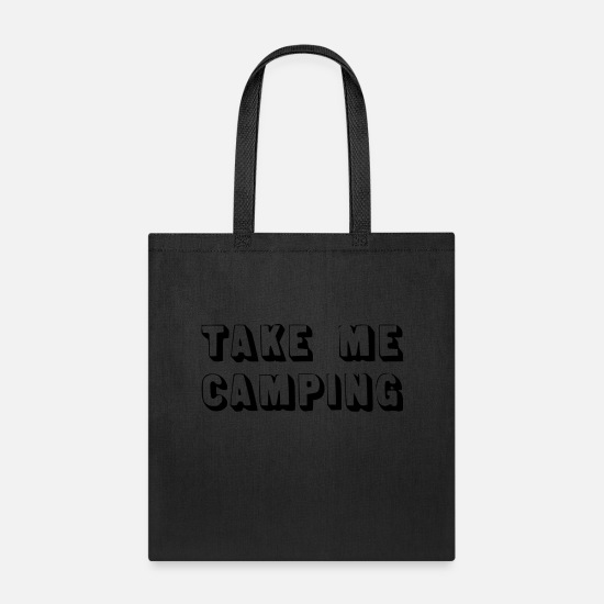 Camper Bags & Backpacks - take me camping - Tote Bag black