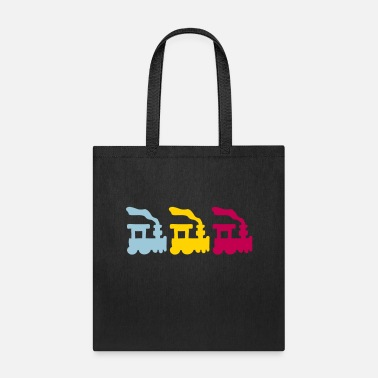 Railway Track Trains - Tote Bag