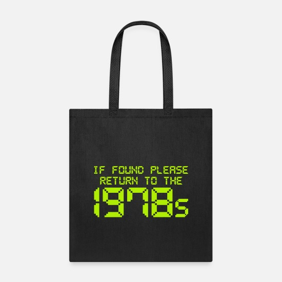 The Office Bags & Backpacks - If Found Please Return To The 1978s - Tote Bag black