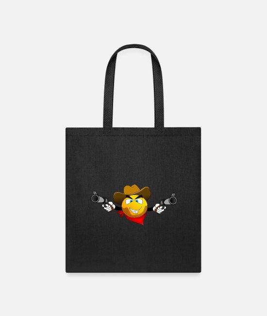 Eye Bags & Backpacks - smiley - Tote Bag black