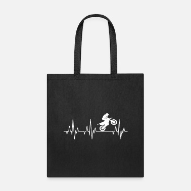 Motocross Heartbeat Motocross Motorcycles Motorcyclist - Tote Bag