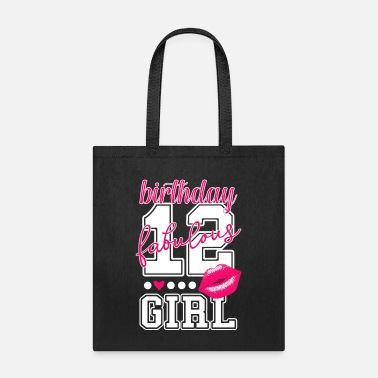 Kiss 12th birthday girl pink kiss college Style number - Tote Bag