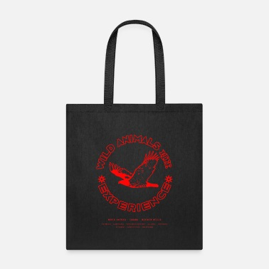 Eagles Wild Animals Live - Eagle with Red Outline - Tote Bag