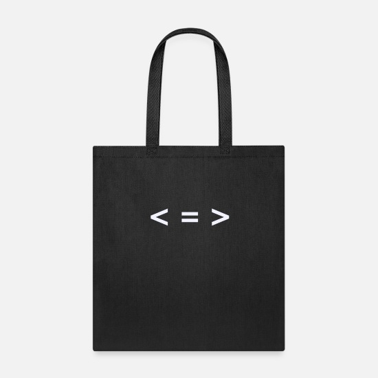 More Bags & Backpacks - Less is more Horizontal - Tote Bag black