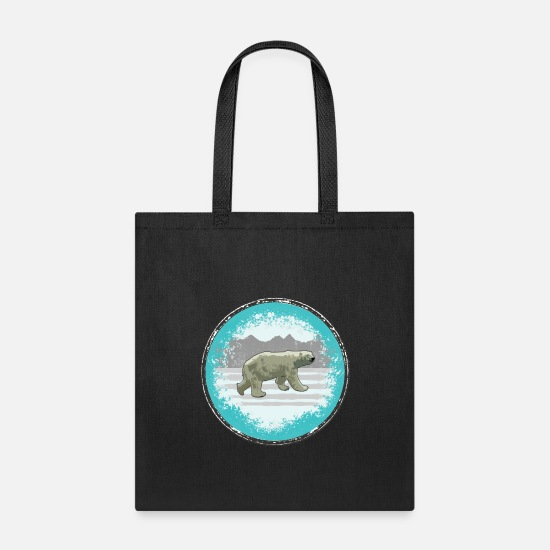 Ice Floe Bags & Backpacks - Polar Bear Pop Art - Tote Bag black