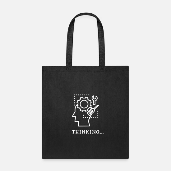 Think Bags & Backpacks - Thinking... - Tote Bag black
