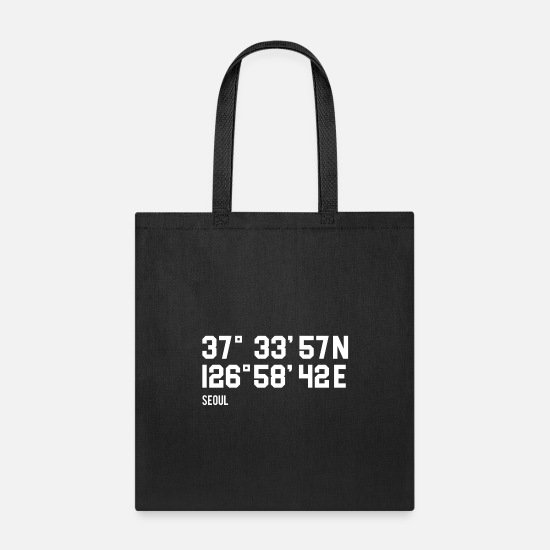 Gift Idea Bags & Backpacks - Seoul coordinates - Tote Bag black