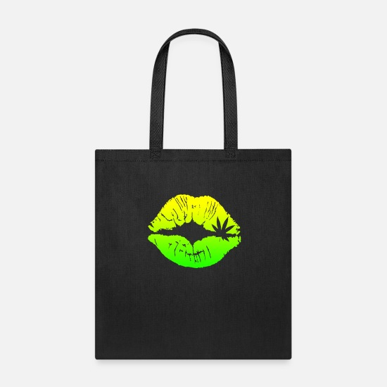 Sexy Bags & Backpacks - Sexy Green Lips - Tote Bag black