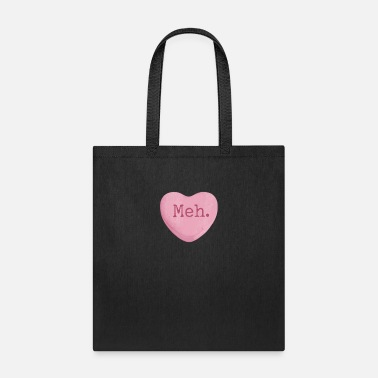Single Funny Single Ladies Valentines Day Candy Heart T-S - Tote Bag
