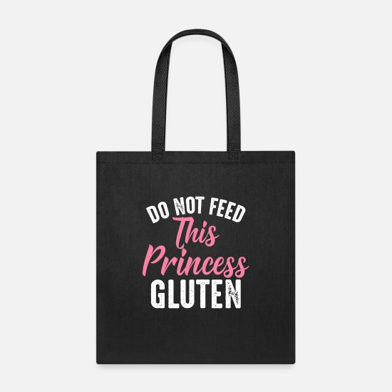 Princess Bags & Backpacks - Do Not Feed This Princess Gluten - Tote Bag black