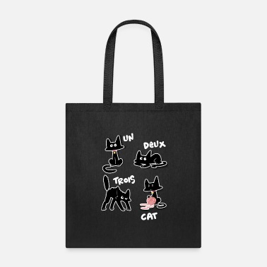 Funny Un Deux Trois Cat Kids Funny Cats Lover Kittens - Tote Bag