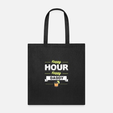 Production Year Funny Cocktail Product Happy Hour Daddy - Tote Bag