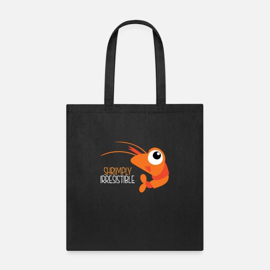 Seafood Bags & Backpacks - Shrimply Irresistible - Tote Bag black