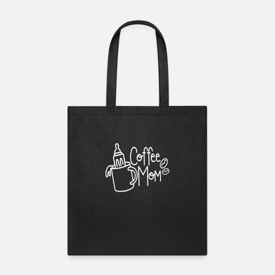 Mom Bags & Backpacks - coffee mom - Tote Bag black