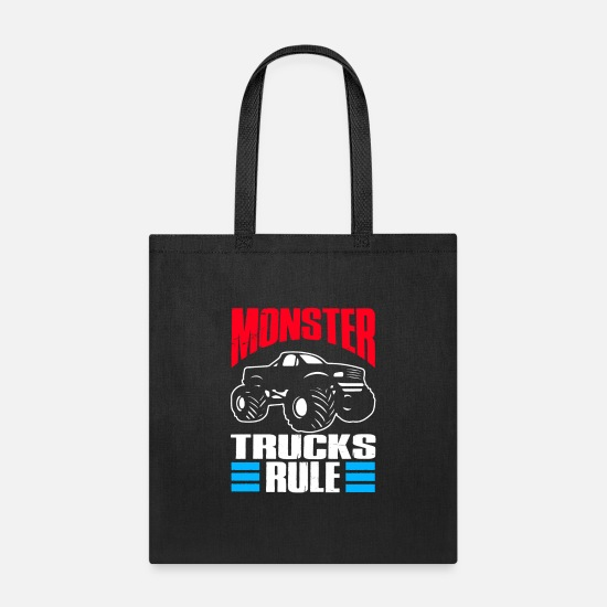Monster Truck Bags & Backpacks - Monster Trucks Gift | Big Trucks - Tote Bag black
