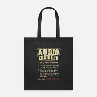 Audio Engineer Badass Dictionary Term Funny T Shir - Tote Bag