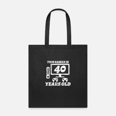 Video 40th Birthday Funny Gamer Gift - Tote Bag