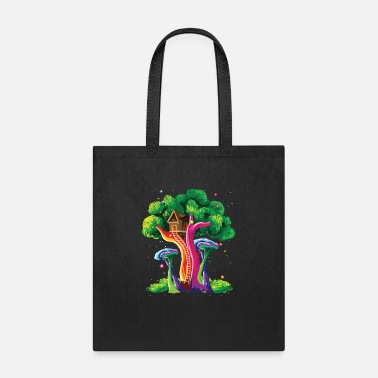 Vivid Color Contest Colorful Tree Vivid Color Painting Art Gift Idea - Tote Bag
