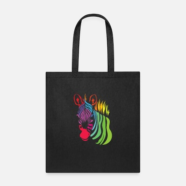 Vivid Color Contest Vivid Color Zebra Africa Colorful Gift Idea Animal - Tote Bag