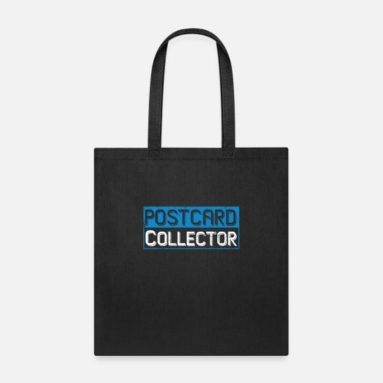 Christmas Bags & Backpacks - Postcard collector shirt - Tote Bag black