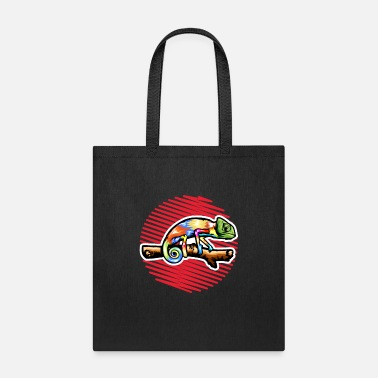 Junglecontest CHAMELEON vector art hand made drawing - Tote Bag