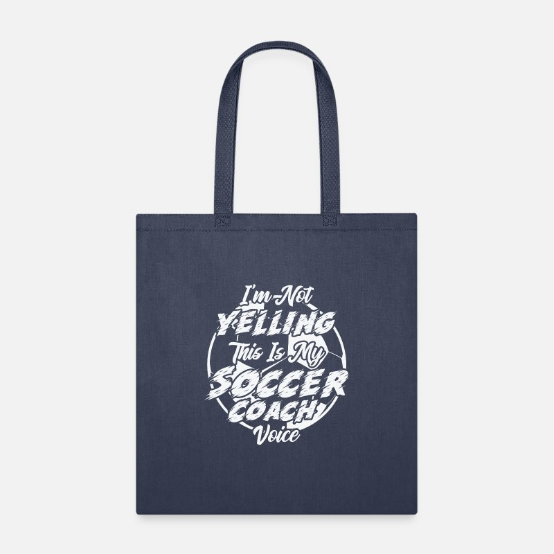 Soccer Coach Voice Tote Bag