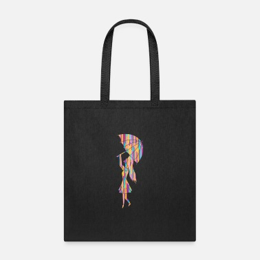 Christmas Joy Lady in the Rainbow Rain Drops Lover Gift Idea - Tote Bag