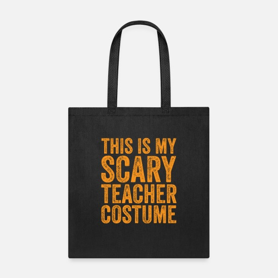 Makeup Bags & Backpacks - This Is My Scary Teacher Costume - Tote Bag black