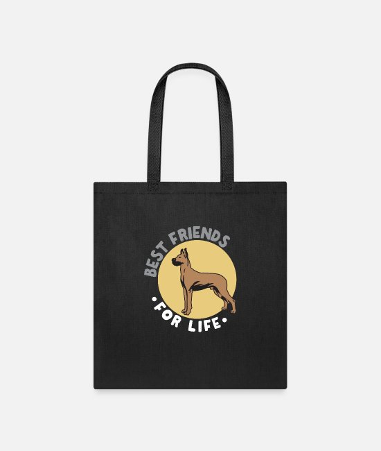 Lovers Bags & Backpacks - Best Friends for Life (Great Dane) - Great Dane - Tote Bag black