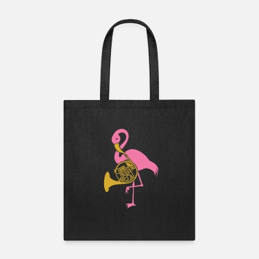 French French Horn Design Pink Flamingo Play Gift Idea - Tote Bag