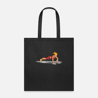 White Wine Wine Fitness Woman with Glass Gift For Wine Lover - Tote Bag