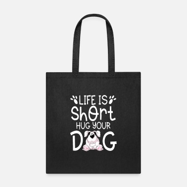 Akita Life is short hug your Dog cute puppy gift - Tote Bag
