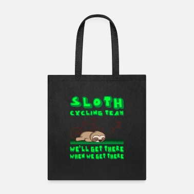 Funny Sloth Cycling Team Gift For Mountainbikers - Tote Bag