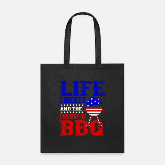 Patriotic Bags & Backpacks - BBQ And Liberty Independence Day American Gift - Tote Bag black