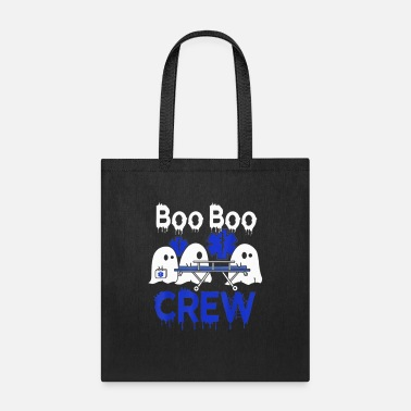 Ghost Boo Boo Crew EMTs and Paramedics - Tote Bag