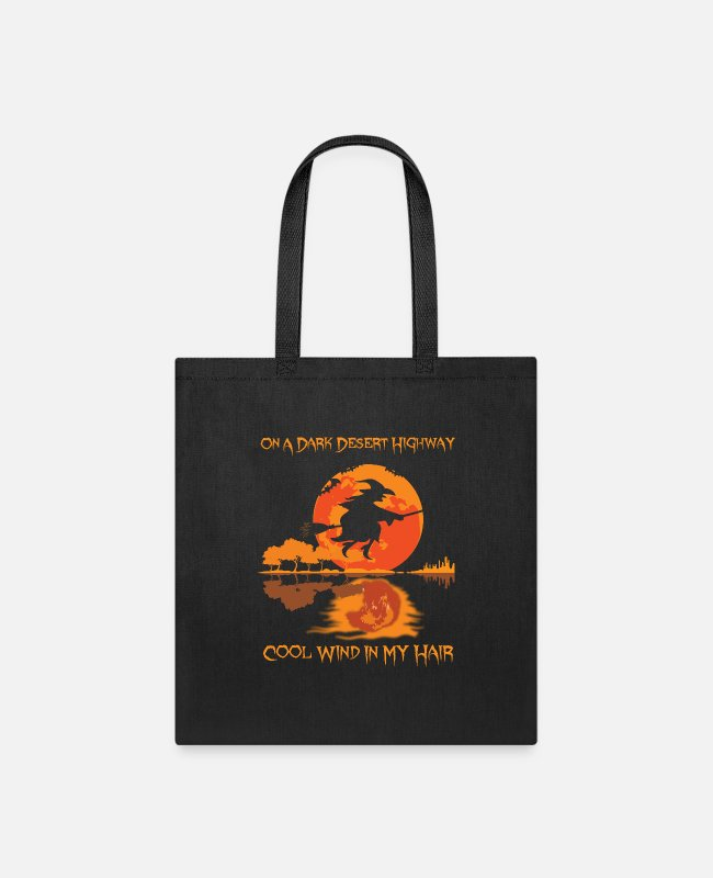 On A Dark Desert Highway Bags & Backpacks - Halloween On A Dark Desert Highway - Tote Bag black