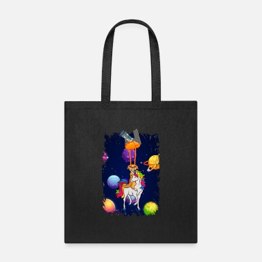 B Space Unicorn With Meerkat Laser Eye Unicorn Gifts - Tote Bag