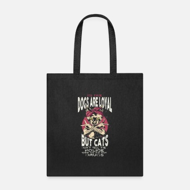 Old School Rap 90's Hip Hop Cat with Bandana and Tattoos Loyal - Tote Bag