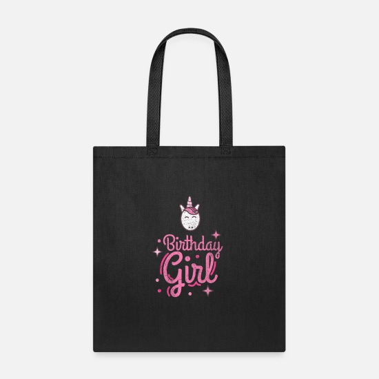 Unicorn Bags & Backpacks - Birthday Girl Birthday Girl Birthday Girl - Tote Bag black