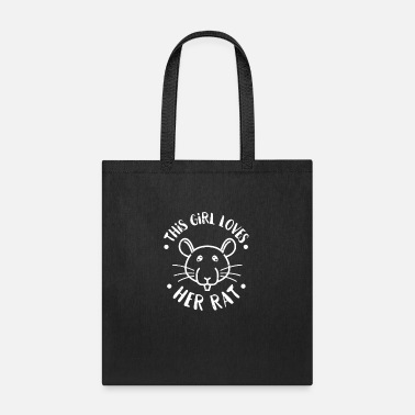 Fur This Girl Loves Rats Women's Pet Owner - Tote Bag