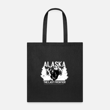 The Last Frontier Alaska the last frontier with bear and forest - Tote Bag