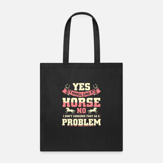 Riding Bags & Backpacks - Horse cute riding gift idea - Tote Bag black